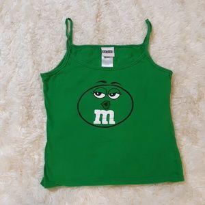 Womens size 10/12 90's M&M tank top
